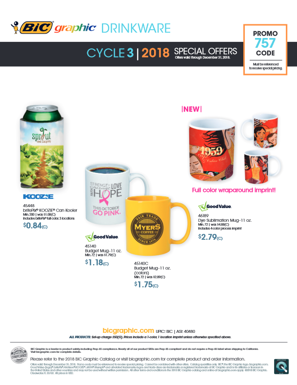 Bic Specials Cycle 3 (2018)